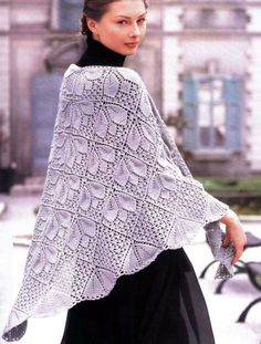 Lace shawl idea with diagrams