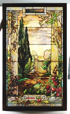 Lot: 218: Magnificent Tiffany Stained Glass Window., Lot Number: 0218, Starting Bid: $35,000, Auctioneer: Dan Morphy Auctions, Auction: DEC 10 2010 MORPHY AUCTIONS PREMIER SALE, Date: December 10th, 2010 EST