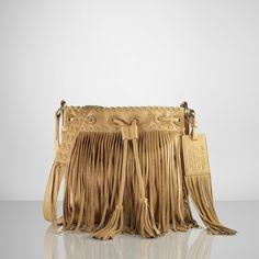 leather fringe shoulder bag Ralph Lauren handbags