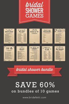 DIY Bridal Shower 10 Bridal Shower Printable Games Bundle Wedding Trivia Bride And Groom Trivia BRF302-54 Rustic Bridal Games Package