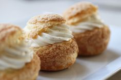 Crispy top cream puff