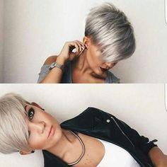 Stylish Short Pixie Haircut with Side Swept Bangs - Undercut for Women Short Hair