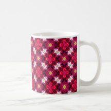 Red Flower Abstract Coffee Mug