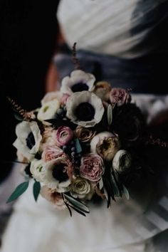 Wedding Bouquets : Picture Description Elegant Wedding by Addison Jones Photography and A Charming Fete 66 Boho Wedding Bouquet, Bride Bouquets, Bridesmaid Bouquet, Wedding Flowers, Wedding Day, Wedding Stuff, Ranunculus Bouquet, Pink Bouquet, Wedding Trends