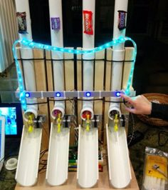 DIY Gadgets - Build an Arduino-Powered Candy Vending Machine - Homemade Gadget Ideas and Projects for Men, Women, Teens and Kids - Steampunk Inventions, How To Build Easy Electronics, Cool Spy Gear and Do It Yourself Tech Toys Bonbon Halloween, Halloween Candy, Haunted Halloween, Halloween Town, Halloween 2020, Halloween Crafts, Halloween Ideas, Trunk Or Treat, Diy Electronics
