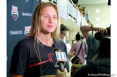 Olivia Smoliga finished first in the 100m backstroke at the Olympic Team trials to qualify for this years Games.(ATR)