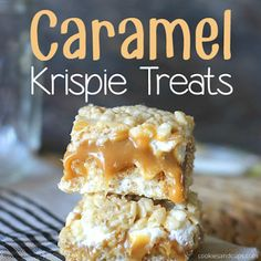 Caramel Stuffed Krispie Treats Recipe These delicious bars combine my 2 favorite food groups: Rice Krispies and Sweetened Condensed Milk. They are really easy too…you do everything in the microwave! Rice Crispy Bars, Rice Crispy Treats, Krispie Treats, Mini Marshmallows, Rice Recipes For Dinner, Dessert Recipes, Popcorn Recipes, Fudge Recipes, Candy Recipes