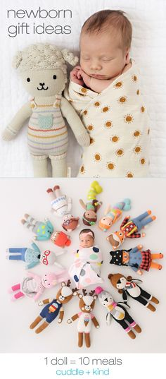 Ethically produced, hand-knit dolls that help feed children in need. Each doll is hand knit in Peru by talented artisans with premium cotton. Baby Toys, Kids Toys, Pillos, Boy Doll, Knitted Dolls, Newborn Gifts, Baby Crafts, Birthday Personality, Baby Sewing