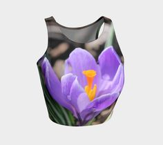 "Athletic+Crop+Top+""Crocus""+by+IowaShots"