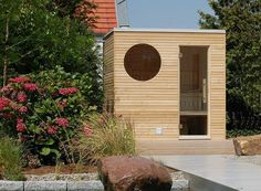 The noble sauna for your garden or your roof terrace – compact yet with the highest comfort. Garden Living, Home And Garden, Outdoor Sauna, Outdoor Decor, Outdoor Spaces, Modern Shed, Maids Room, Sauna Room, Eco Friendly House