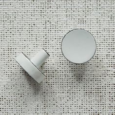 Enamel Knob - Red + White | west elm