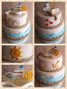 Cruise themed anniversary cake  Cake by SugarMummyCupcakes