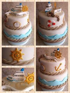 Cruise themed anniversary cake  Cake by SugarMummyCupcakes