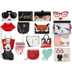 Bolsas divertidas by truquesdemeninas on Polyvore featuring beleza, Lanvin, Edie Parker, Les Petits Joueurs, Christopher Kane, Alice + Olivia, Kate Spade, Lulu Guinness, Karl Lagerfeld and Love Moschino