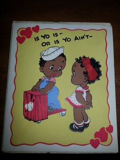 137 best african american greeting cards images on pinterest vintage black americana valentine m4hsunfo