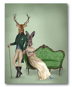 Loving this Polo Deer Portrait Gallery-Wrapped Canvas on #zulily! #zulilyfinds