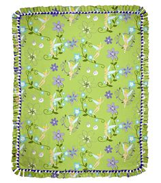 "Tink Floral 48"" No Sew Throw 