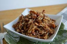 Paleo Berry Glazed Crockpot Chicken and more paleo chicken recipes on MyNaturalFamily.com #paleo #recipe