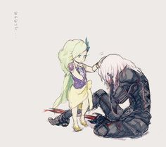 Cecil Harvey and Rydia - Final Fantasy IV