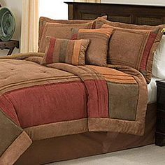 @Overstock.com - Handcrafted Birchwood 8-piece Comforter Set - Redesign your entire bedroom decorating scheme around the Birchwood eight-piece handcrafted comforter set. It features a woven design with multicolored blocks of fabric for a timeless look that can grow with you through many style changes.  http://www.overstock.com/Bedding-Bath/Handcrafted-Birchwood-8-piece-Comforter-Set/4141981/product.html?CID=214117 $114.99