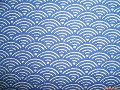 Blue sea waves or fish scales fat quarter pure by lisahestore, $4.00
