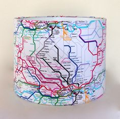 London Underground lampshade cool for playroom. Down that little lane. Seven Dandelions