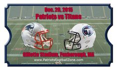 New England Patriots vs Tennessee Titans Football Tickets ...