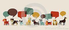 Perros que hablan - iconos y ejemplos