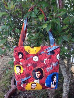 Handmade Star Trek Purse, Handbag, Tote Bag, Shoulder Bag, Theme Purse, Lunch Bag, Bag for Toys, Clothes Bag,Novelty Purse,Gifts,Diaper Bag by CraftsByNess on Etsy https://www.etsy.com/listing/176390407/handmade-star-trek-purse-handbag-tote