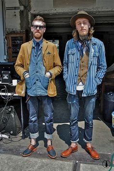 dukeandsons: Sven Signe den Hartogh and Ouwe Papparazzi at the Denim Run Eindhoven 2013
