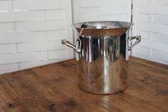 Simple silver ice bucket -  Southern Vintage Wedding Rental