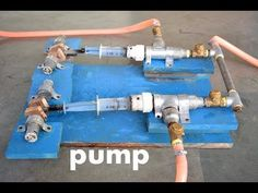 How to Make Powerful Reciprocating Water Pump / Compressor - Science Project How To Make Water, Make A Boat, Electric Boat, Submersible Pump, Bug Out Bag, Homemade Tools, Water Systems, Reciprocating Compressor, Civil Engineering