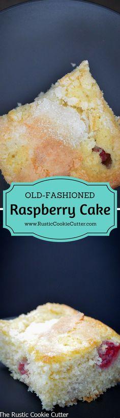 Old-Fashioned Fresh Raspberry Cake
