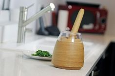 A British inventor has created a mortar and pestle for the 21st century called Mesto. The key to their new interpretation is a see-through shield and interchangeable inserts that help eliminate common frustrations while using a mortar and pestle. Find out how they did it - http://kitchenboy.net/blog/mesto-new-mortar-pestle-21st-century/
