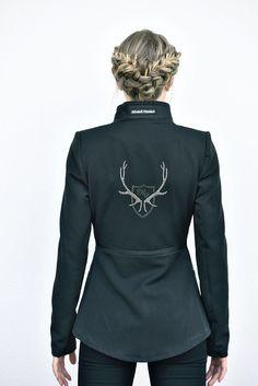 Jacke Jersey schwarz - Mirabell Plummer Sweatshirts, Long Sleeve, Sleeves, Sweaters, Mens Tops, T Shirt, Fashion, Jackets, Black