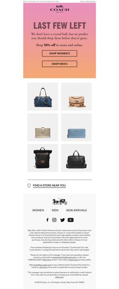 coach Email Design Inspiration, Email Newsletters, Crystal Ball, Man Shop