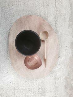 pink & brown coffee set