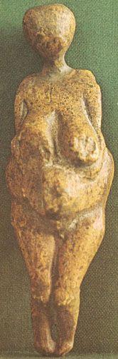 Venus of Kostienki - discoverd along the banks of the Don River near Kostienki in the Ukraine, created 24500-21500 BP
