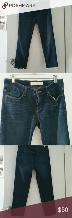 Marc by Marc Jacobs dark wash jeans size 26 Worn only a few times, in excellent conditions. Cropped to the ankle. Boyfriend slouchy jeans. Low to Mid-rise. Im 5'3 and it cropped to my ankle. You can fold up for a different look. Marc by Marc Jacobs Jeans Ankle & Cropped