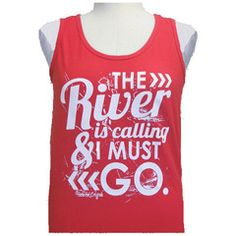 Girlie Girl Originals The River Bright Red Tank Top   SimplyCuteTees