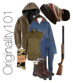 """""""Snow day in the Mountains"""" by originality101 on Polyvore featuring Free People, Carhartt and Anne Klein"""