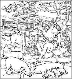 de zondeval - | bijbel: schepping, adam en eva en familie / bible ... - Bible Coloring Pages Prodigal Son