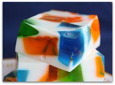 Sea Glass Jello- I grew up eating Jello in milk (trust me, it's good!)