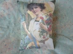 Edwardian Lady PillowFrom Vintage Print 10 x 8 by Maisonvogue, $15.00