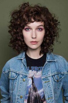 Curly Shag Haircut Mara Roszak Hair Style Tips Advice Curly Shag Haircut, Curly Hair With Bangs, Shag Hairstyles, Curly Hair Cuts, Short Curly Hair, Wavy Hair, Pretty Hairstyles, New Hair, Curly Hair Styles