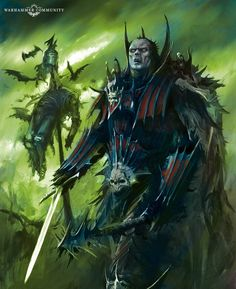 Tolkien, Vampires, Character Concept, Concept Art, Warhammer Vampire Counts, Warhammer Fantasy, Warhammer 40k, The Revenant, Necromancer
