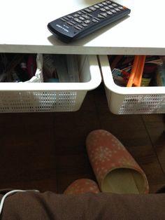 DIY:テーブル下の引き出し