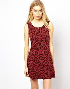 Image 1 ofVero Moda Printed Skater Dress