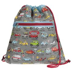 Tyrrell Katz Cars Kit Bag is perfect for your 7 year old boy to use as a games kits and PE kits! A very popular gift for boys.