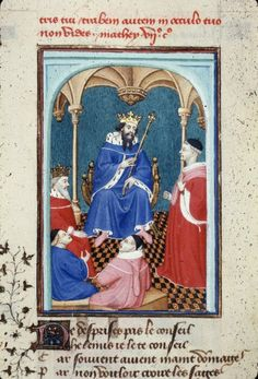 Harley 4431 fol 130 detail (Helenus). Paris, France 1410-1414.